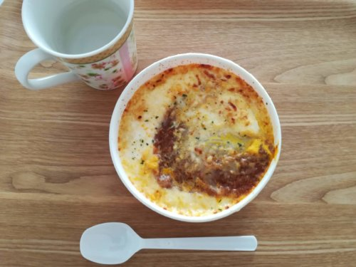 玉子と食べるミートソースドリア