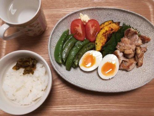 鶏肉、焼き野菜