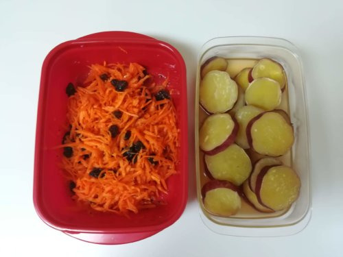 キャロットラペとさつま芋のレモン煮