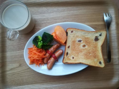 ひとり暮らしの朝食プレート