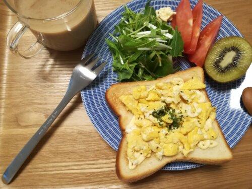 ひとり暮らし 朝食プレート