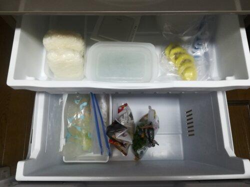 冷凍庫の中