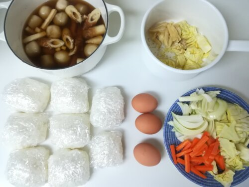 食材の下準備と作り置き