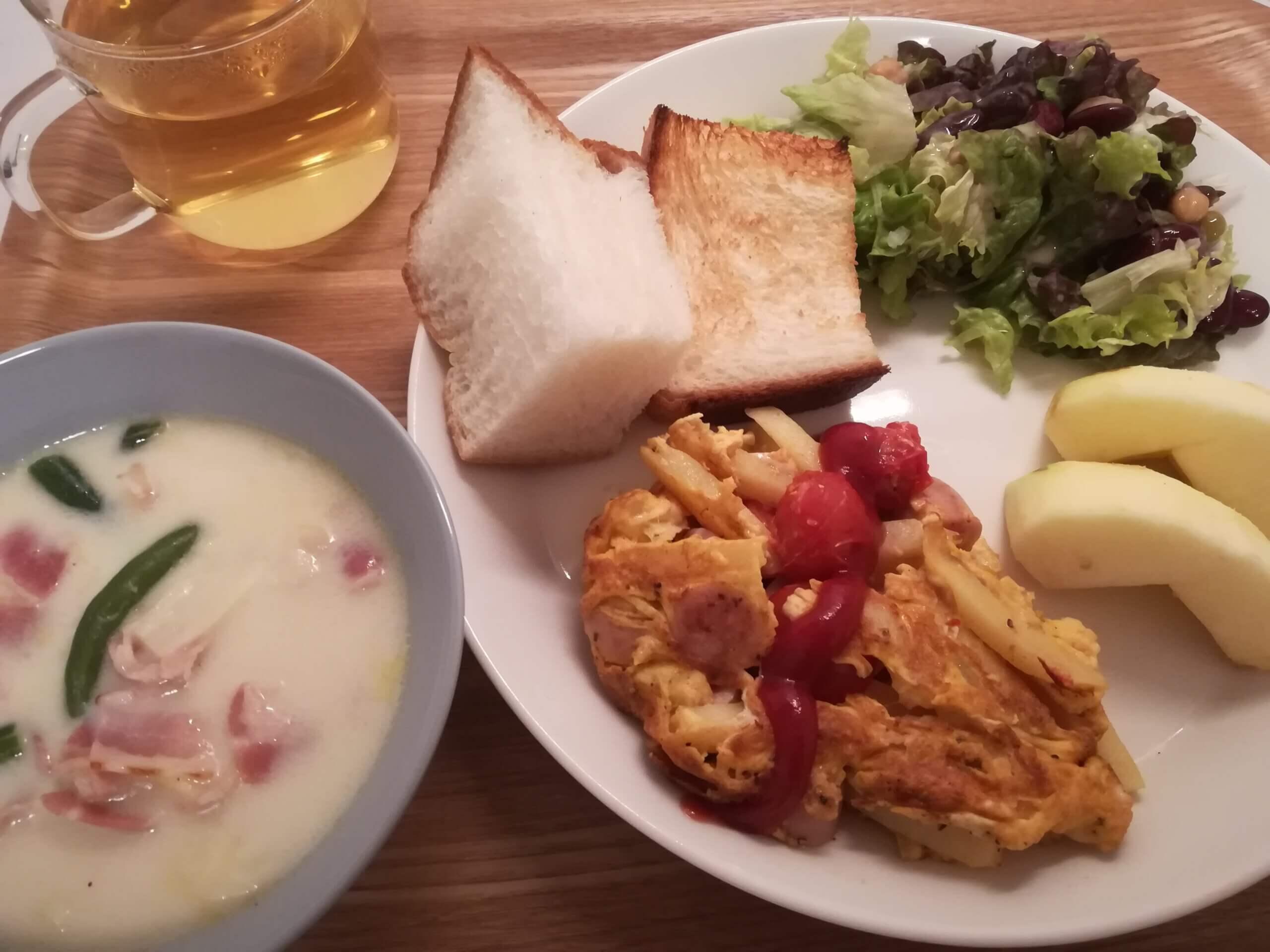 リンゴトースト/夜ごはんもパン【ベークハウスメールの食パン】
