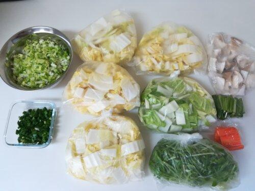 食材の下準備