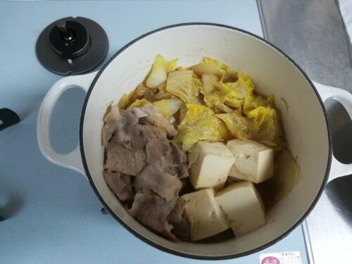 豆腐、白菜の煮物