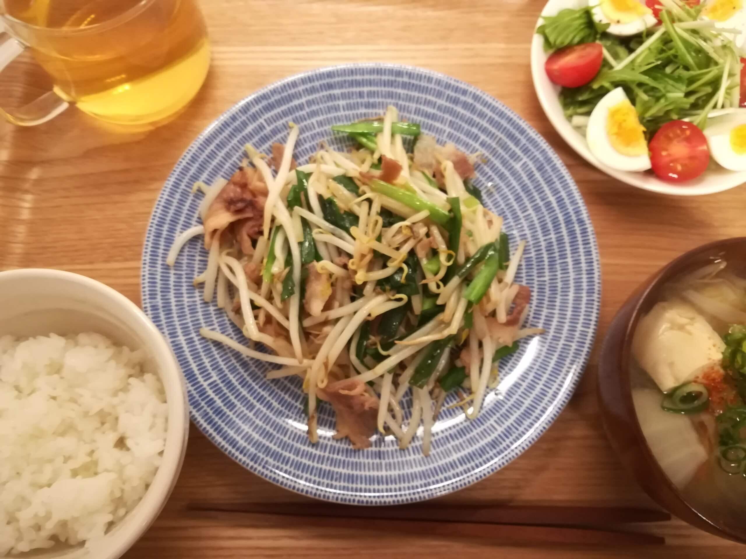 フレンチトースト/磯辺焼き/ニラともやし炒め